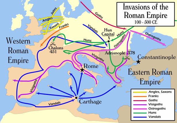 invasions roman empire