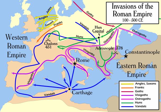 invasions roman empire